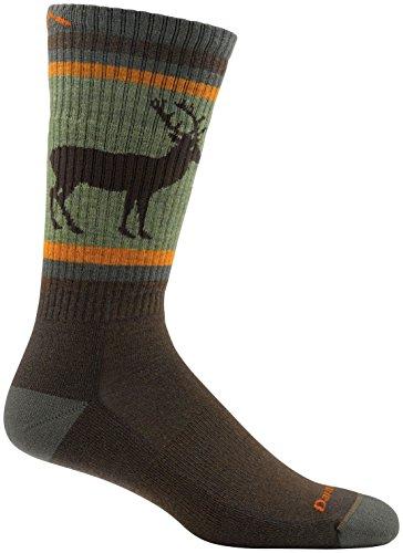 Darn Tough Uncle Buck Boot Cushion Sock - Men's Brown Large