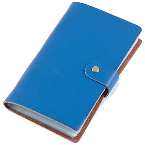 Boshiho Leather Credit Card Holder Business ID Card Case Book Style 90 Count Name Card Holder Book ()