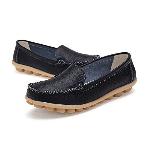 On Colors OverDose Black Women Comfortable Flat Shoes Slip Loafers Solid qHw6pnWwvF