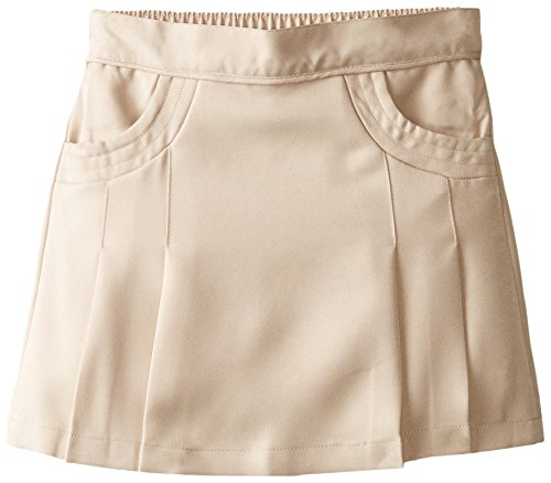 Nautica Big Girls' Uniform Polyester Scooter with Scoop Pockets, Khaki, 8