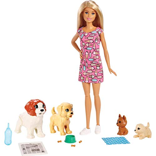 Barbie Doggy Daycare Doll & Pets]()