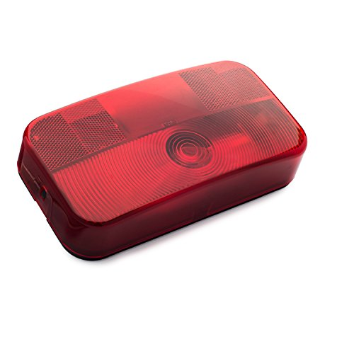 Lumitronics Surface Mount Tail Light For Safe Driving On The Road - RV Stop/Turn/Tail Light - Black Base