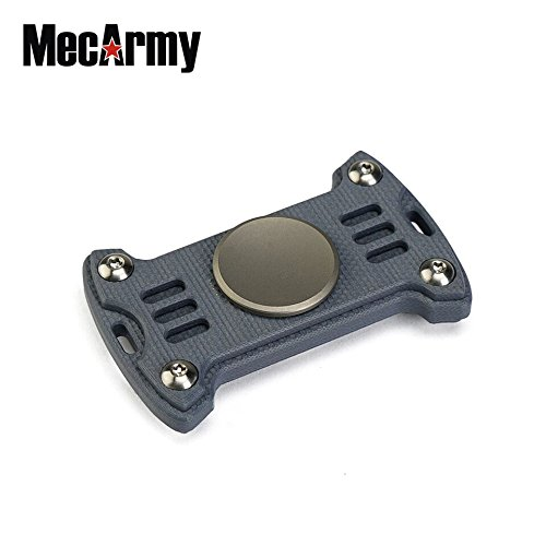 GP1 Titanium Fidget Spinner, Hand Excise, Relieves Stress and Anxiety, MecArmy (G10 grey)