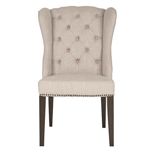 scarlett-villa-button-tufted-fabric-and-birch-solids-dining-chair-with-nailhead-accents