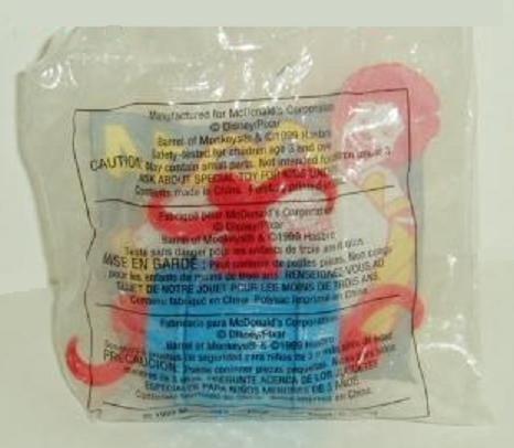 Disney Toy Story 2 Barrel of Monkeys McDonalds Happy Meal Toy #14 - 1999 -