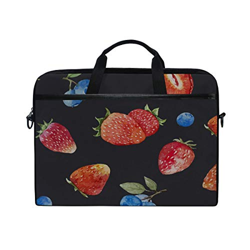 Laptop Computer Bag Sleeves 15 15.4 Inch Strawberry Berry Fruits Laptop Sleeve Notebook Computer Pocket Case Tablet Briefcase Carrying Bag Laptop Shoulder - Berry Inch 15.4