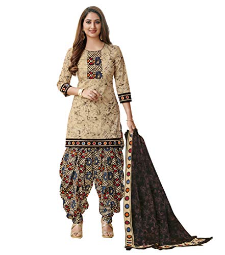 Miraan Cotton Printed Readymade Salwar Suit For Women(MIRAANSG1313, Multi-Coloured)