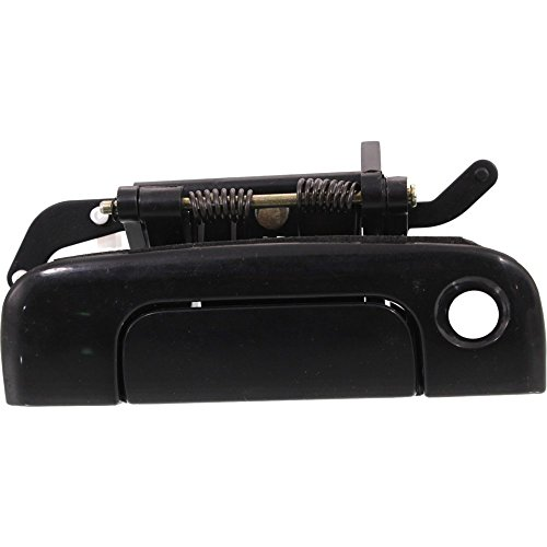 Tailgate Handle compatible with Chrysler Town & Country 96-00 Smooth Black w/Keyhole w/Sport Rallye Pkg Plastic