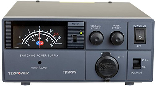 TekPower TP50SW 50 Amp 13.8V Analog DC Power Supply with Cigarette Plug