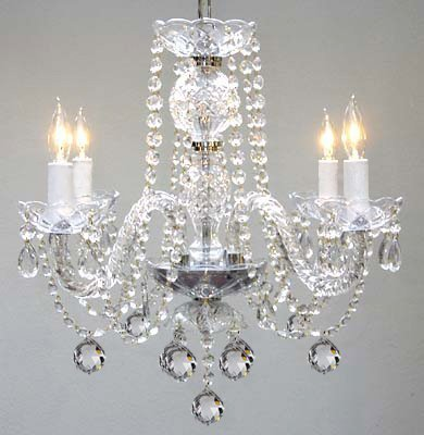 Murano venetian style all crystal chandelier h17 x w17 amazon murano venetian style all crystal chandelier h17quot aloadofball Gallery