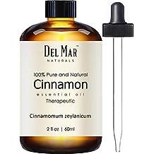 Del Mar Naturals Cinnamon Oil, Pure and Natural, Therapeutic Grade Cinnamon Leaf Essential Oil, 2 fl oz