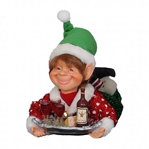 Karen Didion Originals Wine Elf with Tray