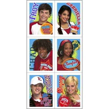 Party America High School Musical Stickers 4 Sheets ()