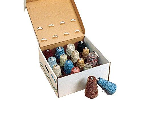 (Trait Tex All Novelty Yarn Assortment, Dispenser Box, Assorted Color, 4 lb)