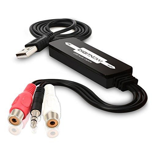DIGITNOW USB Audio Capture Card Grabber for Vinyl Cassette T