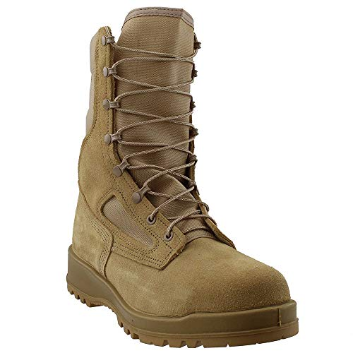 Belleville 300 Desert Tan Hot Weather Steel Toe Combat Boot, Made in USA, 5