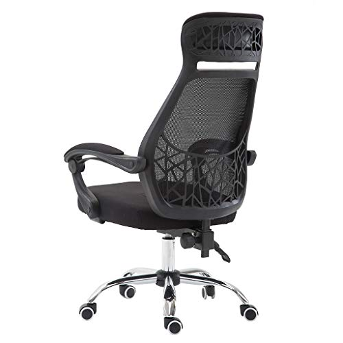 - LLJEkieee Adjustable Office Mesh Chair 360 Degree Free Rotation with Armrest,Aluminum Alloy Prong Base with 5pcs Pulley for Office, Home Life, Beauty Salons (B)