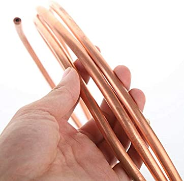 Without brand 1pc Soft T2 Copper Tube Coil Refrigeration HVAC Auto OD 2-22mm Thickness 0.5-1.2mm OD X Thickness Size : 6 x 1.5mm
