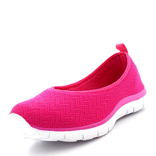 Fit Sports Yoga Sneakers Walking Get Pink Mesh Running Gym Womens Lightweight dSqnw6Og