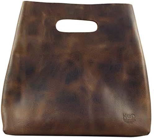 Hide & Drink, Durable Leather Tote Bag/Purse/Handbag/Mimimalist Boho Chic Shopping Bag/Day Purse, Handmade :: Bourbon Brown