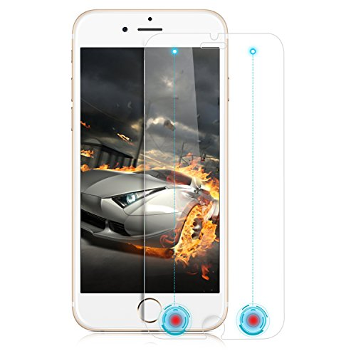 Smarteer Tempered Glass Screen Protector with Smart Invisible Return Key & Confirm Key for iPhone 6S