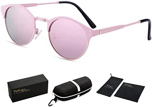 Dollger Clubmaster Polarized Wayfarer Sunglasses Horn Rimmed Half Frame
