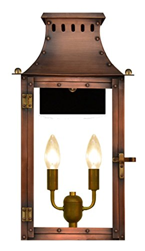 The CopperSmith Market Street 2 Lite Electric Lantern - 16 Williamsburg Light