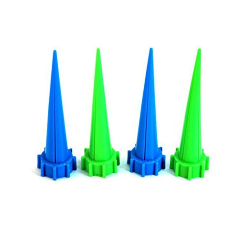 (Yeefant 4 Pcs Automatic Watering Irrigation Spike Garden Plant Flower Device Drip Sprinkler Gifts,Inner Diameter 0.09 Ft,0.44x0.11 Ft,Random)