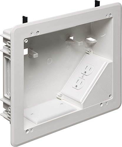 Outlet Wall Flange - Arlington TVBU810-1 TV Box with Flange for Home Theater Installations, 8 x 10, White, 1-Pack