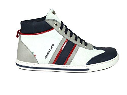 Armani Z6571 - Zapatillas de caña alta de cuero hombre gris - gris/azul