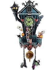 FLQHU The Nightmare Before Christmas Koukklok, wandklok, koeklok voor Halloween, wandklok, kuckukklok, wandbehang, Halloween-ornamenten