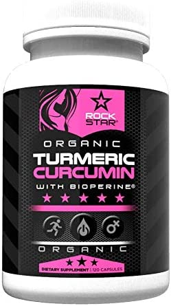 Turmeric Curcumin for Women Organic with Bioperine 1500mg by Rockstar