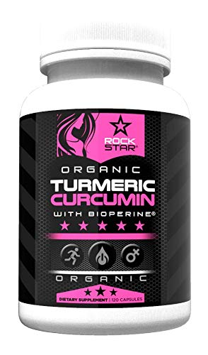 Turmeric Curcumin for Women Organic with Bioperine 1500mg by Rockstar