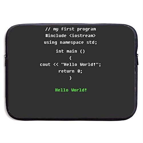 Fonsisi 13 Inch Laptop Sleeve Computer Case Programming Soft Neoprene Laptop Bag IPad Pro Bag