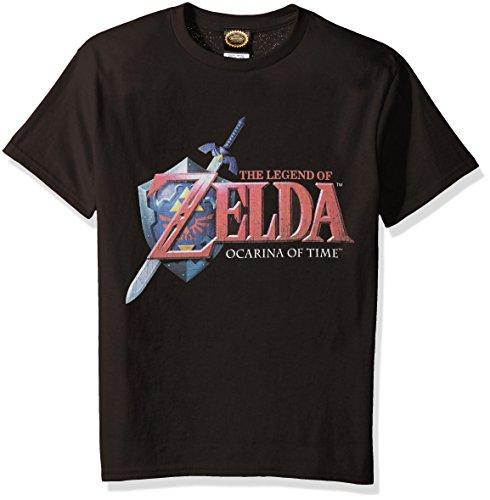 Nintendo Big Boys Zelda Hey Ocarina Graphic T-Shirt, Black, YL