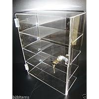 "305 Displays Acrylic Countertop Display Case 12"" x 7"" x 16"" Locking Security Showcase Cupcake"
