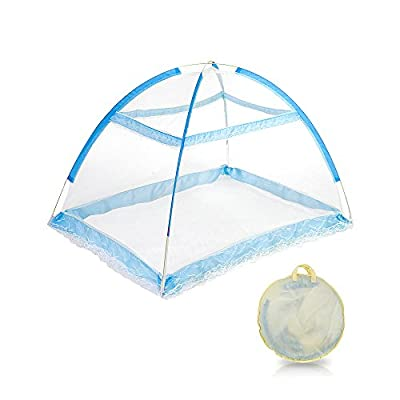 Topwon Pop-up Baby Mosquito Net/Automatic Insect Tent/Portable Nursery Netting (Blue)