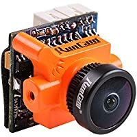 RunCam Micro Swift 600TVL FPV Camera 2.1mm Lens DC 5-36V FOV 160 Degree CCD NTSC IR Blocked for Racing Drone Quadcopter (Orange)