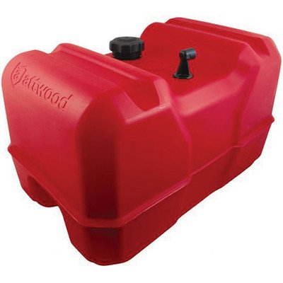 Attwood 8812LPG2 12-Gallon Portable Fuel Tank with High-Flow Fuel Cap, Red Finish (Marine Fuel Tank Portable compare prices)