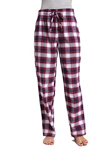 CYZ Women's 100% Cotton Super Soft Flannel Plaid Pajama/Louge Pants-F17008-L ()