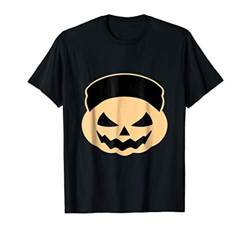 Funny Halloween Pumpkin T-shirt North Korea Kim -