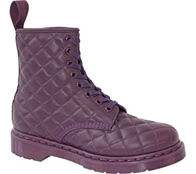 Dr. Martens Women's Purple Coralie Quilted 8 Eye Boot 3 F(M) UK