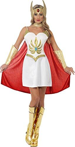 Smiffy's Women's Deluxe She-Ra Costume White/Gold Small ()