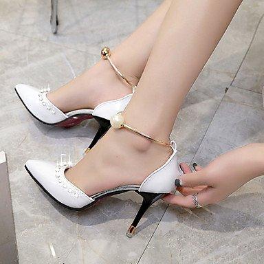LvYuan Mujer Sandalias Confort PU Verano Confort Tacón Stiletto Blanco Negro Rojo Rosa 10 - 12 cms blushing pink