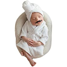 Zeroest Baby Photography Props Towels Bathrobe Newborn Girl Photo Shoot Outfits Infant Photos Clothes Set