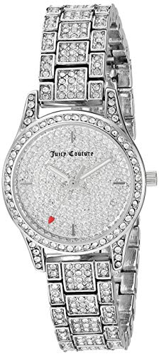 Juicy Couture Black Label Women's Swarovski Crystal Accented Silver-Tone Bracelet Watch