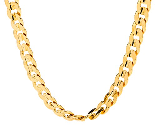 (Lifetime Jewelry Cuban Link Chain, 6MM, 24K Gold Over Semi Precious Metals, Diamond Cut, Premium Fashion Jewelry Necklace, Designed to Resist Tarnishing, Lifetime Replacement Guarantee, 18 Inches)
