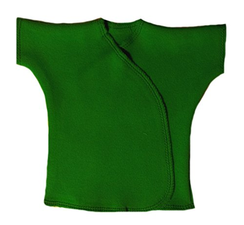 Jacqui's Unisex Baby Kelly Green Short Sleeve Kimono T-Shirt, Preemie