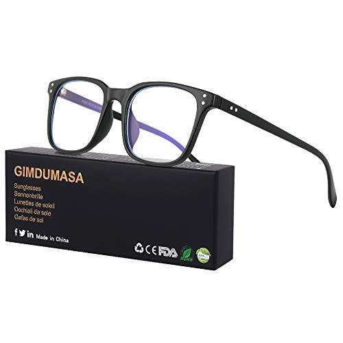 Gimdumasa lunettes gaming pc anti uv lumiere bleue filtre ordinateur homme femme GI799 (Noir)