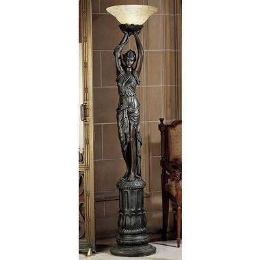 Design Toscano Torchiere Lamp Sculpture